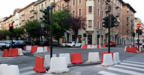 I nuovi semafori in corso De Gasperi