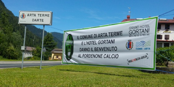 Il benvenuto di Arta Terme al Pordenone Calcio nell'estate del 2017