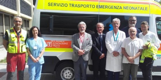 Nuova ambulanza per il trasporto neonatale grazie alla Fondazione Friuli