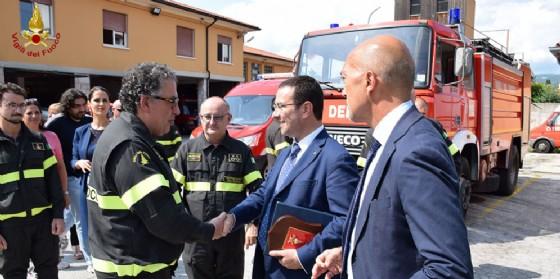 Al Comando dei Vigili del Fuoco di Gorizia la visita del Sottosegretario Onorevole Candiani