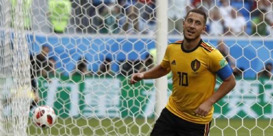 Hazard con la maglia della nazionale belga