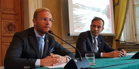 Il Governatore della Regione,Massimiliano Fedriga, con il Direttore della Fondazione FS,Luigi Cantamessa