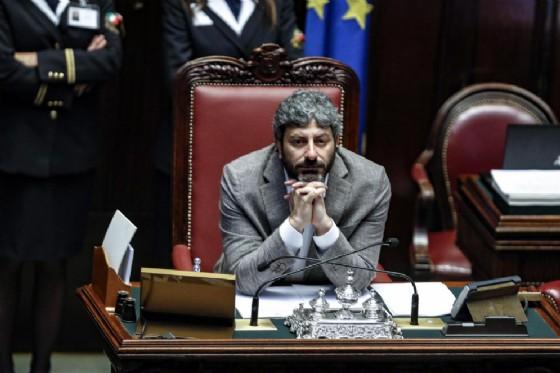 Il presidente della Camera Roberto Fico. Roma, 18 luglio 2018