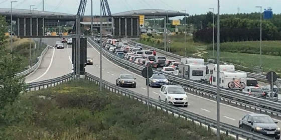 Autostrada congestionata: code di 9 chilometri in direzione nodo di Palmanova