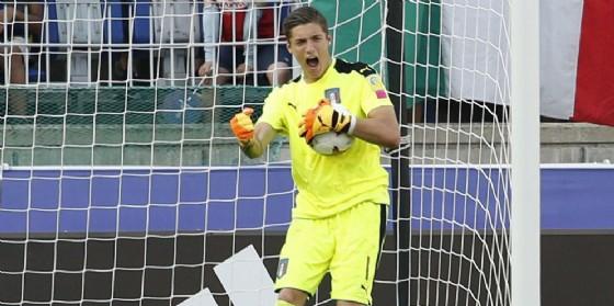 Il portierino del Milan Alessandro Plizzari
