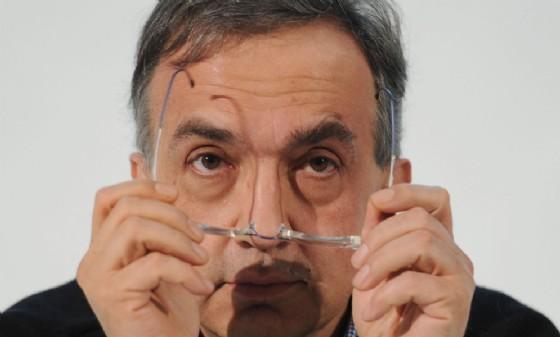 Sergio Marchionne durante la conferenza stampa dopo l'assemblea degli azionisti del gruppo FIAT il 30 marzo 2011 al Lingotto di Torino
