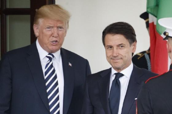 L'incontro tra Donald Trump e Giuseppe Conte