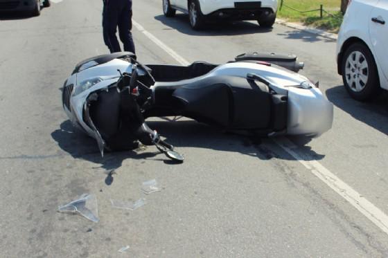 Incidente in scooter d'archivio