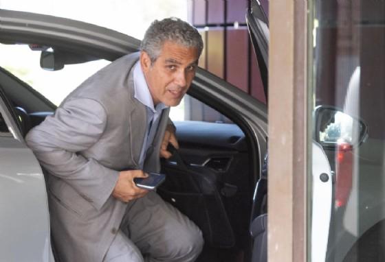 Marcello Foa raggiunge la sede della Rai di viale Mazzini a Roma per il consiglio di amministrazione