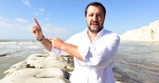 Il ministro dell'Interno e leader della Lega, Matteo Salvini