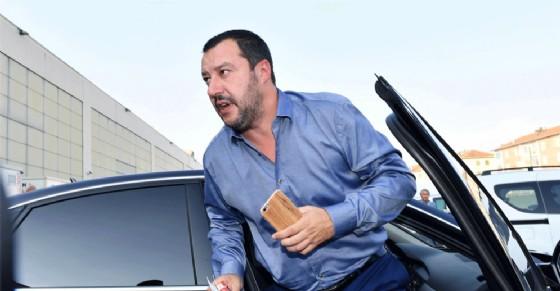 Matteo Salvini in visita a Torino