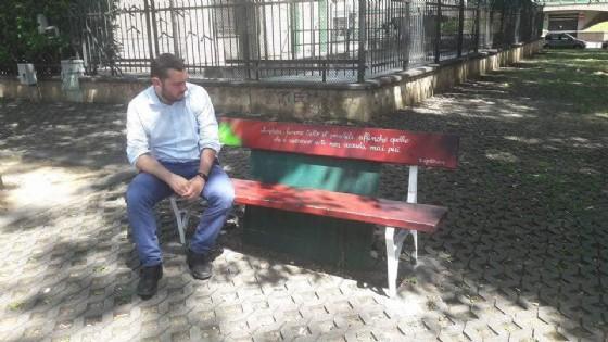 Silvio Magliano in piazzetta Umbria