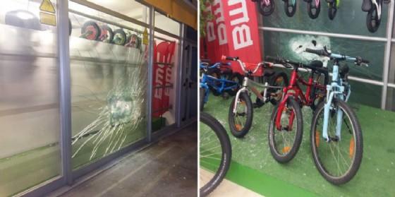 Tentato furto alla cicli Granzon: i ladri spaccano la vetrina ma poi sono costretti a scappare