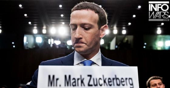 Su InfoWars più volte è finito sotto attacco Mark Zuckerberg