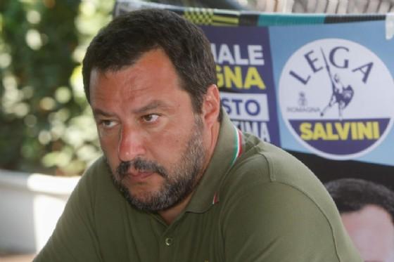 Matteo Salvini alla presentazione della Festa della Lega Romagna a Milano Marittima. 1 agosto 2018