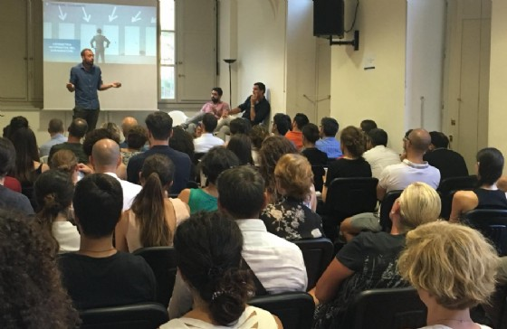 Il CEO di Ethicjobs Luca Carrai in uno speech a Torino presso Rinascimenti Sociali