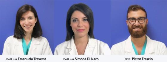 Dott.ssa Emanuela Traversa, Dott.ssa Simona Di Naro, Dott. Pietro Frascio