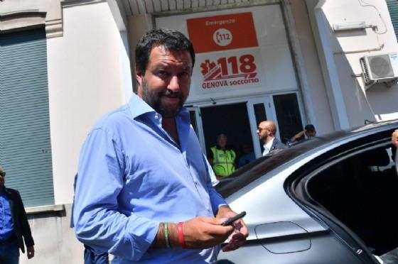 Il ministro dell'Interno e segretario della Lega Matteo Salvini