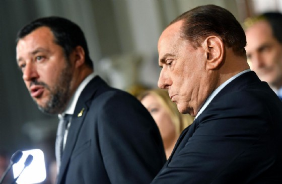 I leader della Lega, Matteo Salvini, e di Forza Italia, Silvio Berlusconi