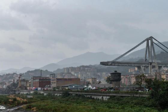 Il ponte Morandi dell'autostrada A10 crollato a Genova