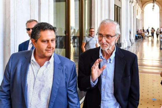 Renzo Piano con il presidente della Liguria Giovanni Toti