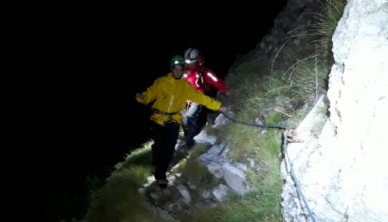Giovane escursionista recuperata sul monte Chiampon