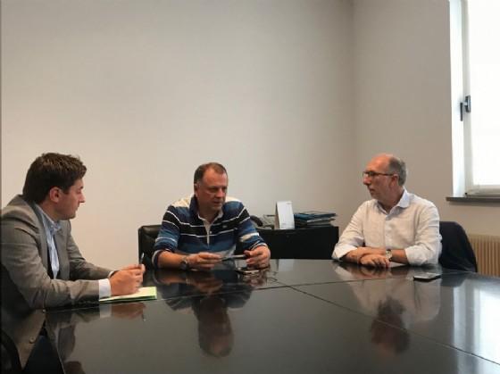 Incontro del vicegovernatore Riccardo Riccardi con sindaco e vicesindaco di Tarcento Mauro Steccati e Luca Toso