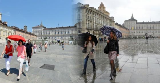 Meteo a Torino, forti scrosci di pioggia poi torna il sole: le previsioni