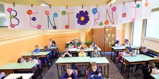 Gli alunni di una scuola elementare piemontese