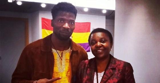 Mu So con l'ex ministro Cécile Kyenge