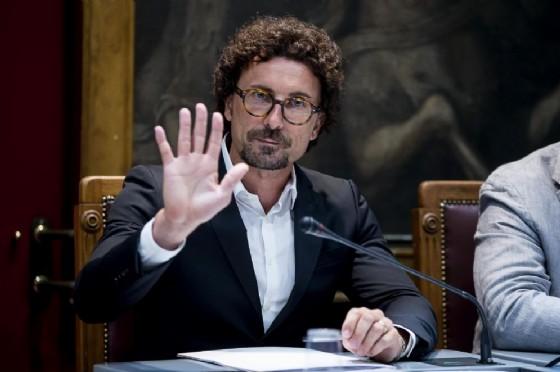 Il ministro delle Infrastrutture e Trasporti Danilo Toninelli durante l'audizione sul crollo del ponte Morandi di Genova