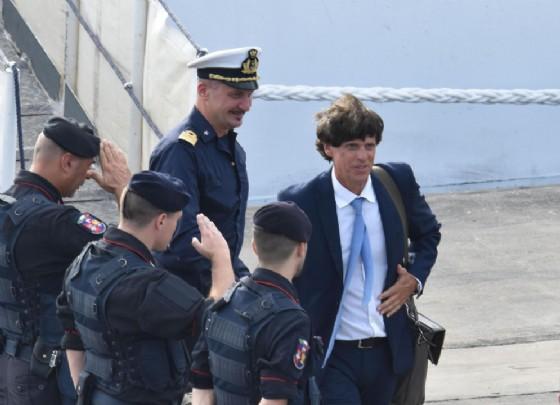 Il procuratore di Agrigento, Luigi Patronaggio durante l'ispezione sulla nave Diciotti. Catania, 22 agosto 2018