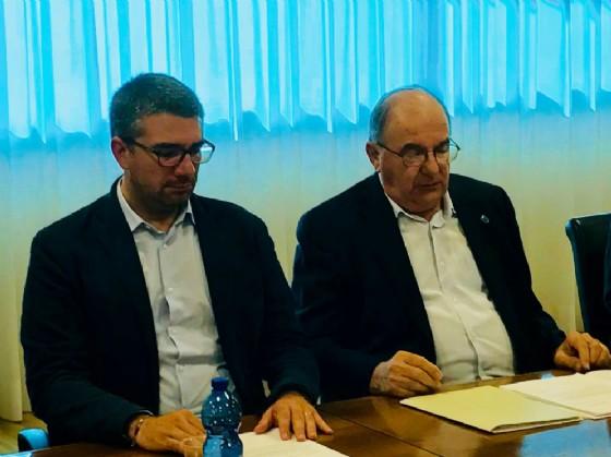 Assessore regionale Pierpaolo Roberti e il presidente dell'associazione dei sindaci emeriti Elio Di Giusto
