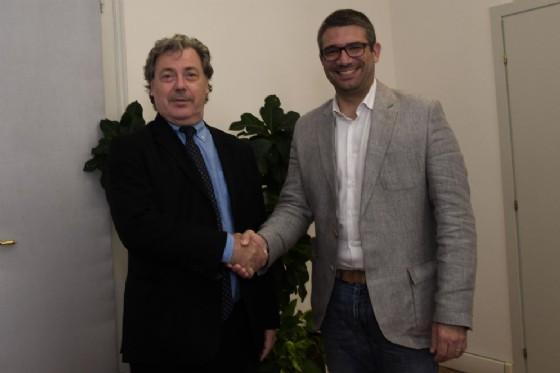 L'assessore regionale Pierpaolo Roberti e il console generale della Repubblica di Slovenia, Vojko Volk