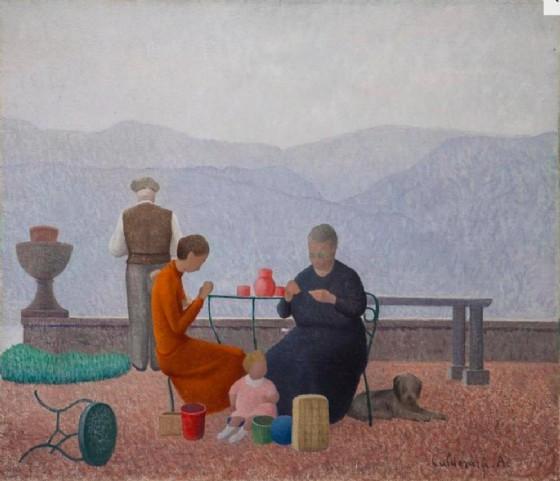 Una delle opere in mostra a «100% Italia. Cent'anni di capolavori»