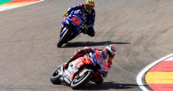 Jorge Lorenzo su Ducati in pole ad Aragon