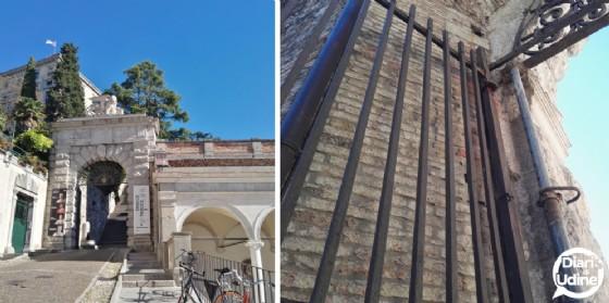Arco Bollani 'colpito' da un mezzo della Net: danneggiato il manufatto del 1500