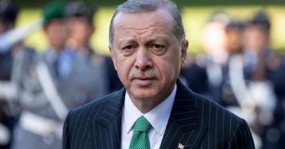 Il presidente turco Recep Tayyip Erdogan in visita ufficiale a Berlino