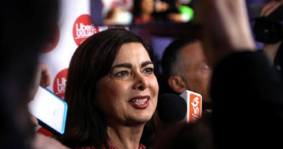 L'ex presidente della Camera, oggi deputata di Liberi e Uguali, Laura Boldrini