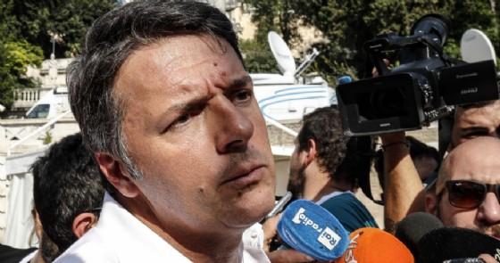 L'ex premier ed ex segretario del Pd, Matteo Renzi, alla manifestazione di Roma