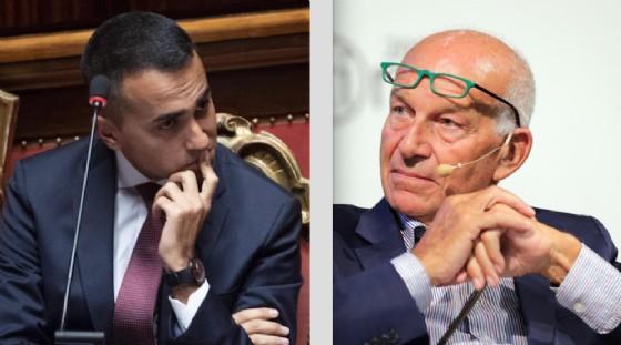 Luigi Di Maio e Fausto Bertinotti