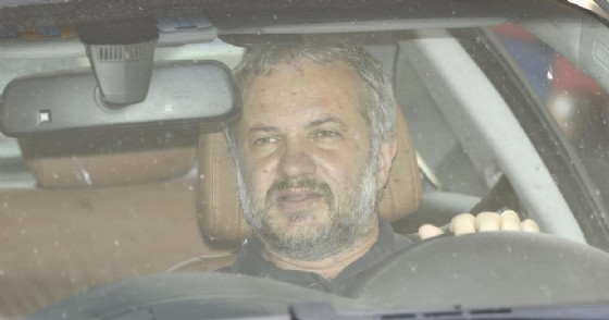 Il deputato Claudio Borghi lascia la sede della Lega di via Bellerio al termine del Consiglio Federale della Lega