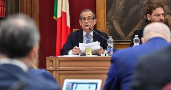 Il ministro dell'Economia e delle Finanze, Giovanni Tria, in audizione alla Commissione di Bilancio riunite di Camera e Senato