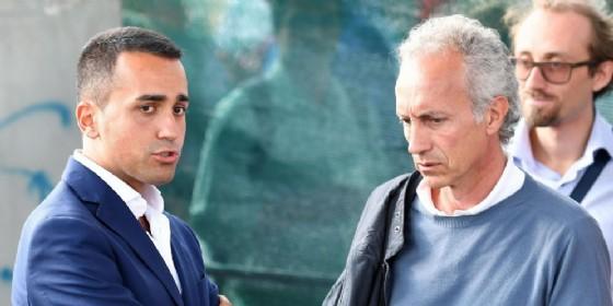 Il leader del Movimento 5 stelle, Luigi Di Maio, con Marco Travaglio, direttore del Fatto quotidiano