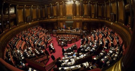 L'Aula del Senato durante la discussione della nota di aggiornamento del Documento di economia e finanza 2018