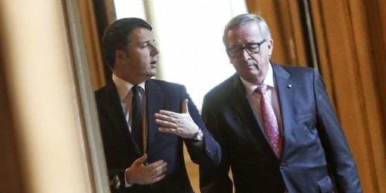 Matteo Renzi e il Commissario Europeo Jean-Claude Juncker