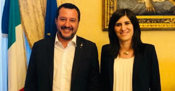 Matteo Salvini e Chiara Appendino, durante l'incontro per la sicurezza