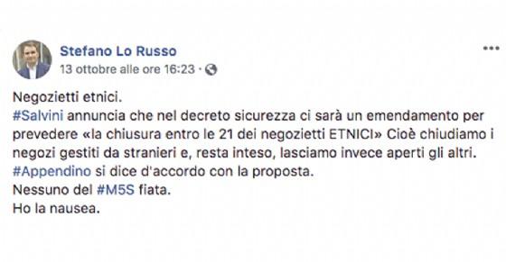 """Stefano Lo Russo, capogruppo Pd, critica Salvini e il """"silenzio"""" del M5S torinese"""