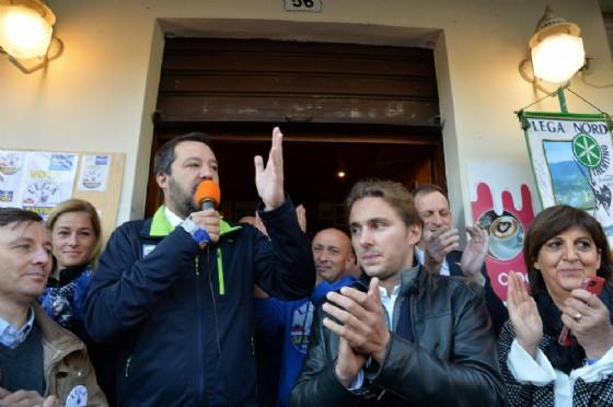 Il vicepremier e ministro dell'Interno Matteo Salvini a Trento