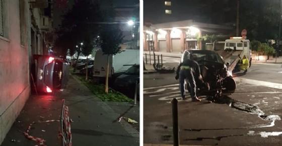 Incidente in via Chiesa della Salute